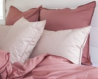 Ružová postelna bielizen